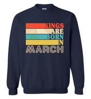 Kings are born in March vintage T-shirt, birthday's gift tee for men