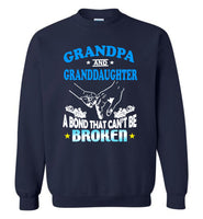 Grandpa and granddaughter a bond that can't be broken aunt gift Tee shirt