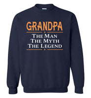 Grandpa the man the myth the legend T shirt, father's day gift tee