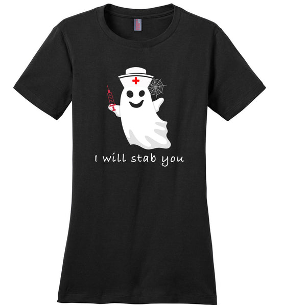 Nurse ghost i will tab you halloween t shirt gift