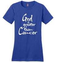 God Is Greater Than Cancer Support Cancer Awareness T Shirt