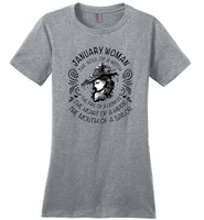 January Woman The Soul Of A Witch The Fire Lioness The Heart Hippie The Mouth Sailor T-Shirt