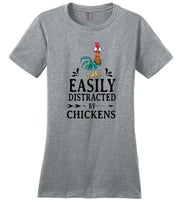 Easily distracted by Hei Hei chickens T shirt