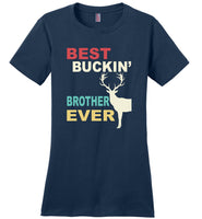 Vintage best buckin' brother ever deer T shirt, gift for brother tee