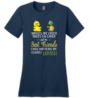 Ducks and Turtles are best friends cause our heads are equally Whack T-shirt