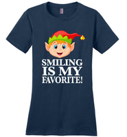 Smiling is my favorite funny christmas elf shirt men,women