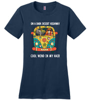 Elehant Hippie car on a dark desert highway cool wind in my hair T-shirt