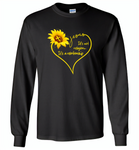 Sunflower heart Jesus it's not religion it's a relationship - Gildan Long Sleeve T-Shirt