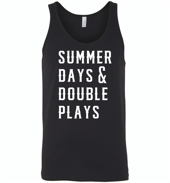Summer days and double plays Tee shirt - Canvas Unisex Tank