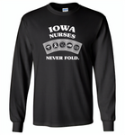 Iowa Nurses Never Fold Play Cards - Gildan Long Sleeve T-Shirt