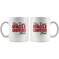 Best Freakin' Uncle And Godfather Ever Plaid Gift White Coffee Mug