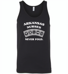 Arkansas Nurses Never Fold Play Cards - Canvas Unisex Tank