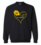 Sunflower heart Jesus it's not religion it's a relationship - Gildan Crewneck Sweatshirt