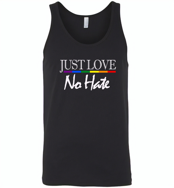 Just love no hate lgbt gay pride - Canvas Unisex Tank