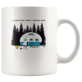 A certified happy camper area snoopy snoopy white coffee mug gift