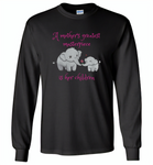 A mother's greatest masterpiece in her children elephant mom and baby - Gildan Long Sleeve T-Shirt