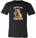 The cat bring me tacos goose - Canvas Unisex USA Shirt