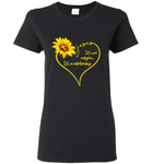 Sunflower heart Jesus it's not religion it's a relationship - Gildan Ladies Short Sleeve