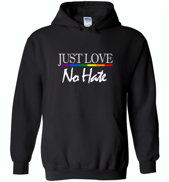 Just love no hate lgbt gay pride - Gildan Heavy Blend Hoodie