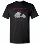 A mother's greatest masterpiece in her children elephant mom and baby - Gildan Short Sleeve T-Shirt