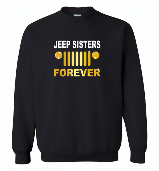 Jeep sisters forever tee, girls love jeep - Gildan Crewneck Sweatshirt