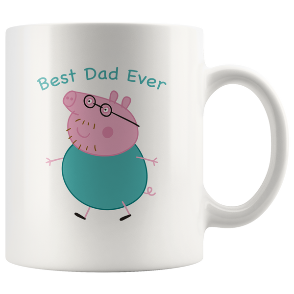 Peppa Pig Daddy Best Dad ever, father's day white gift coffee mug