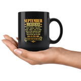 September Certified Has An Evil Side You Do Not Want To Mess Birthday Black Coffee Mug