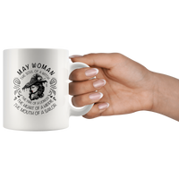May Woman The Soul Of A Witch The Fire Lioness The Heart Hippie The Mouth Sailor gift white coffee mug