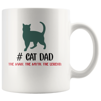 Cat dad the man the myth the legend, father's day white gift coffee mugs