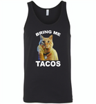 The cat bring me tacos goose - Canvas Unisex Tank