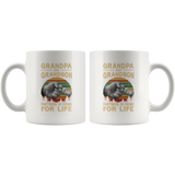 Grandpa and grandson partners in crime for life father's day gift vintage white coffee mug