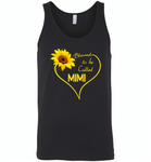 Blessed To Be Called Mimi, Sunflower Love Heart - Canvas Unisex Tank