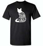 Time spent with cats is never wasted design - Gildan Short Sleeve T-Shirt