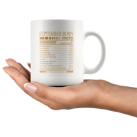 September born facts servings per container, born in September, birthday gift coffee mugs