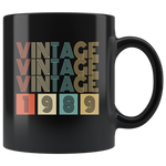 Vintage 1989 birthday black gift coffee mug
