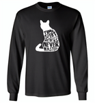 Time spent with cats is never wasted design - Gildan Long Sleeve T-Shirt