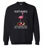 Auntimingo like normal aunt but more fabulous flamingo version - Gildan Crewneck Sweatshirt