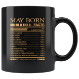 May born facts servings per container, born in May, born in May, birthday gift black coffee mug