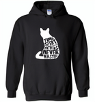 Time spent with cats is never wasted design - Gildan Heavy Blend Hoodie