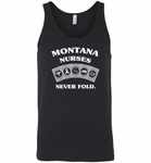 Montana Nurses Never Fold Play Cards - Canvas Unisex Tank