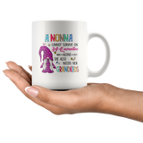 A Nonna Cannot Survive On Self-Quarantine Alone She Also Needs Her Grandkids Gnome Quarantine Mom Mothers Day Gift White Coffee Mug