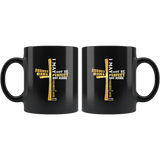 August girl I may be not perfect but Jesus thinks I'm to die for birthday gift black coffee mug