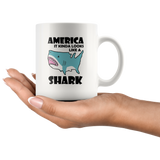 America It Kinda Looks Like A Shark White Coffee Mug