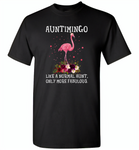 Auntimingo like normal aunt but more fabulous flamingo version - Gildan Short Sleeve T-Shirt