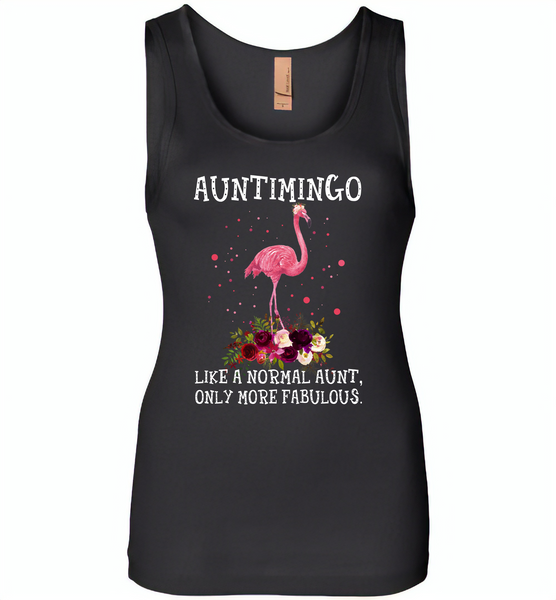 Auntimingo like normal aunt but more fabulous flamingo version - Womens Jersey Tank
