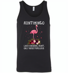 Auntimingo like normal aunt but more fabulous flamingo version - Canvas Unisex Tank
