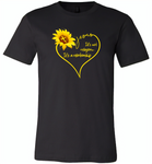 Sunflower heart Jesus it's not religion it's a relationship - Canvas Unisex USA Shirt