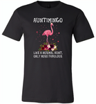 Auntimingo like normal aunt but more fabulous flamingo version - Canvas Unisex USA Shirt
