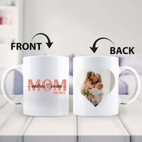 Mom We Love You Mothers Day Gift Personalized Custom Name Photo White Coffee Mugs