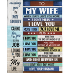 Personalized To My Wife I Love You More Than Bad Days Ahead Us Obstacle The Most My Life Gift From Husband Fleece Blanket